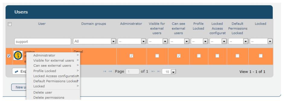 user domain